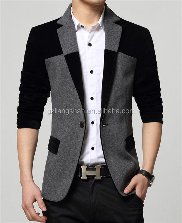 New Fashion Mens Slim Fitted Blazer Stylish Casual One Button Suit ...