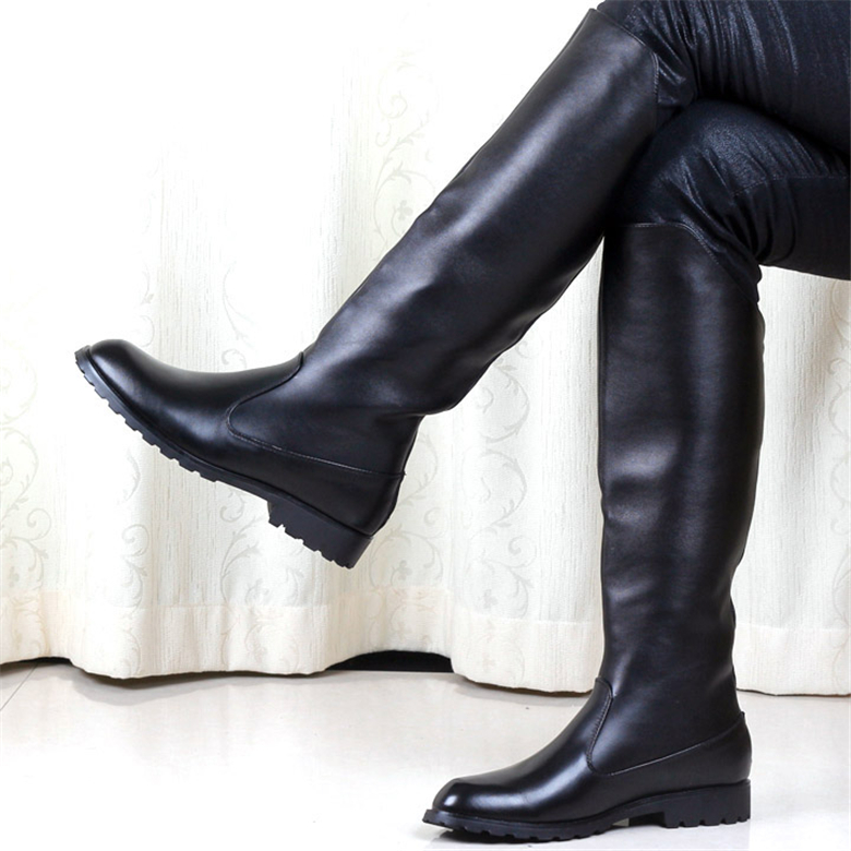 Men's sexy black boots