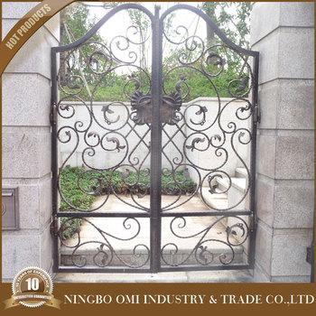Artistic Wrought Iron Garden Door Outdoor/courtyard Gate Iron Craft Main  Gate Double Security Gates - Buy Sliding Decorative Iron Gate,Sliding