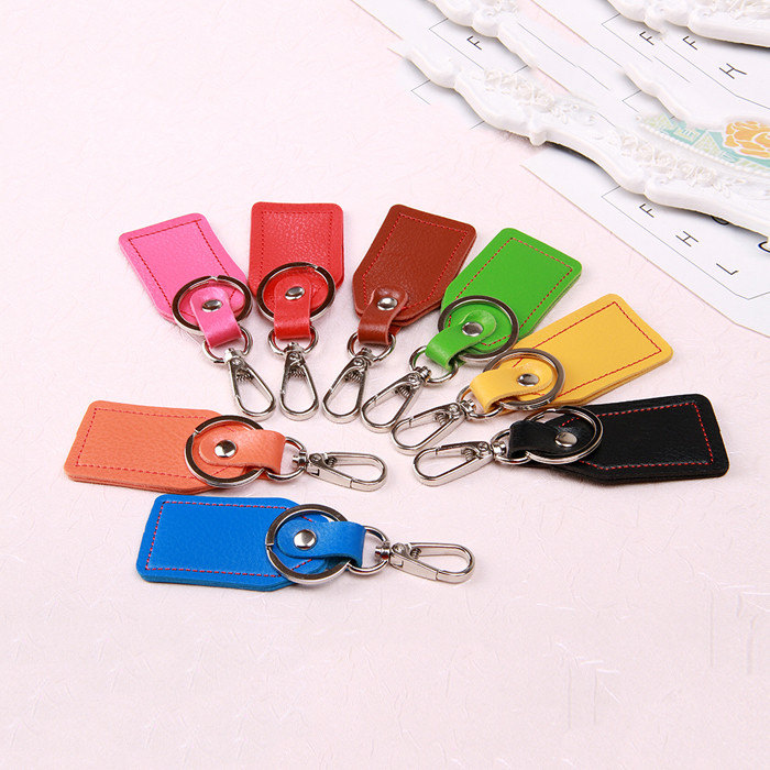 Custom Promotional Gift PU leather Personalized Keychaian for Wholesale