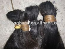 remy virgin hair in bulk,tangle free after washed,double drawn,1 kilogram bulk hair