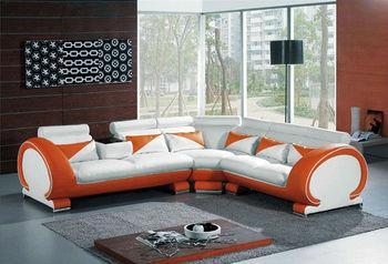 White Sofa Set Bisini Furniture Leather