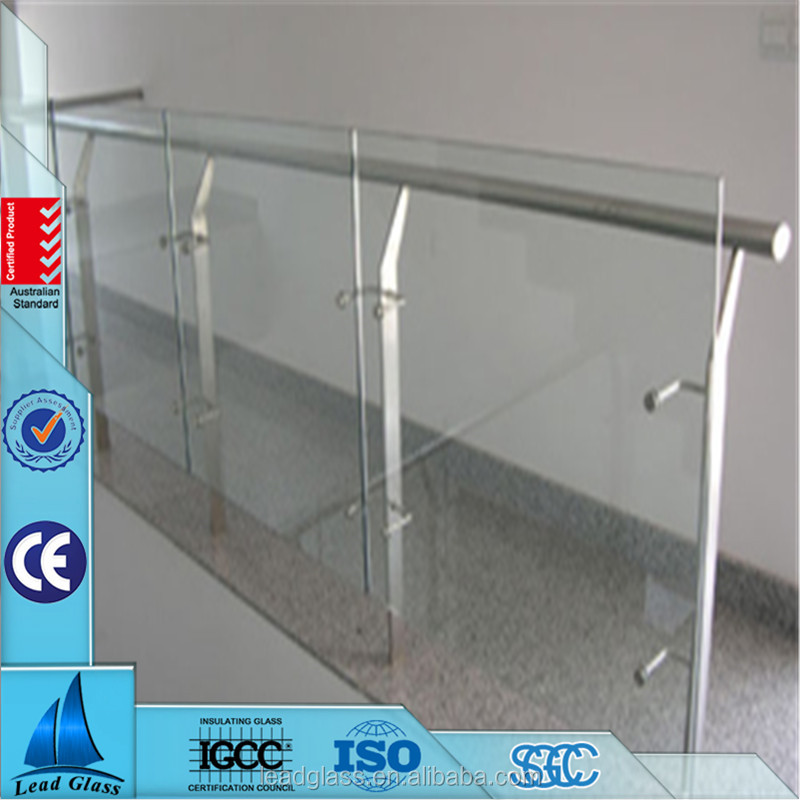 Sand Blasting Frosted Tempered Glass 12mm 15mm For Stair Railing