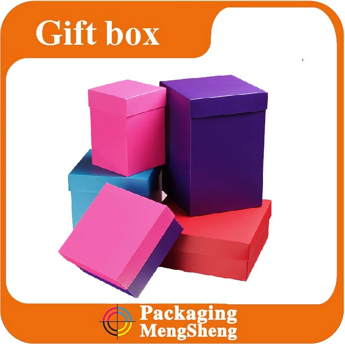Custom colored deluxe two piece gift boxes