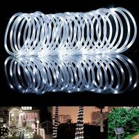 LED Solar Power Rope Lights, Waterproof, 16.5ft 50 LEDs String Lights
