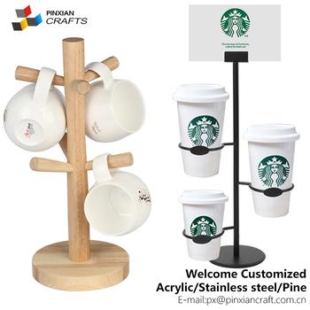 Custom Coffee Mug Storage Tea Cup Holder Display,wire Metal Paper Coffee  Cup Holder