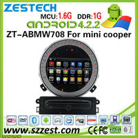ZESTECH OEM pure android 4.4.4 car dvd player for BMW mini cooper android 4.4.4 car gps dvd with 3G WiFi bluetooth