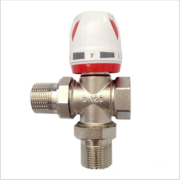 Heating Radiator 3-way thermostatic temperature Control valve Radiat or Manual