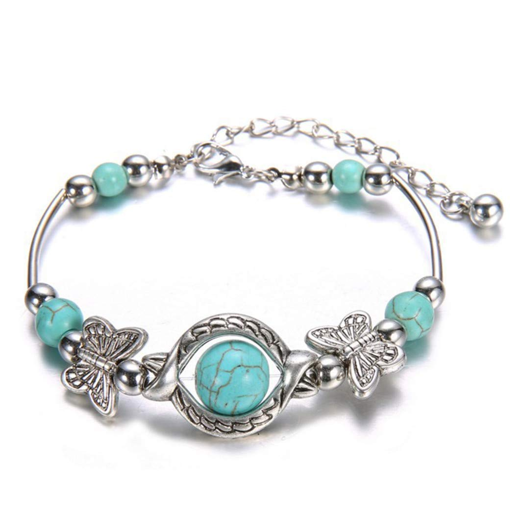 Youcy Creative Ethnic Turquoise Erfly Bracelet For Women Gift Anniversary Christmas Valentine S Day Gifts