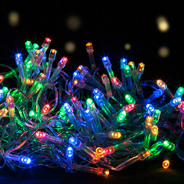 2v 80ma outdoor decor 100 led string solar christmas blink light