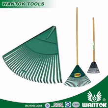 22T Garden Leaf Plastic Rake with Hard-wood Handle