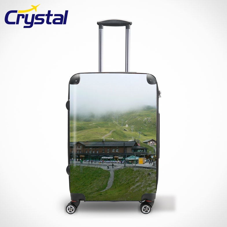 2012 Customized Lightweight PC Waterproof Luggage Sets/ Fashion Design PC Trolley Case Carry on Luggage/Pure PC ABS Luggage