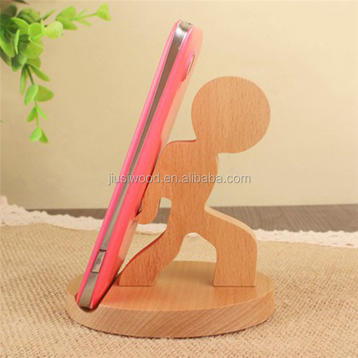 Wood stand for phone Wooden Mobile Cell Phone Holder