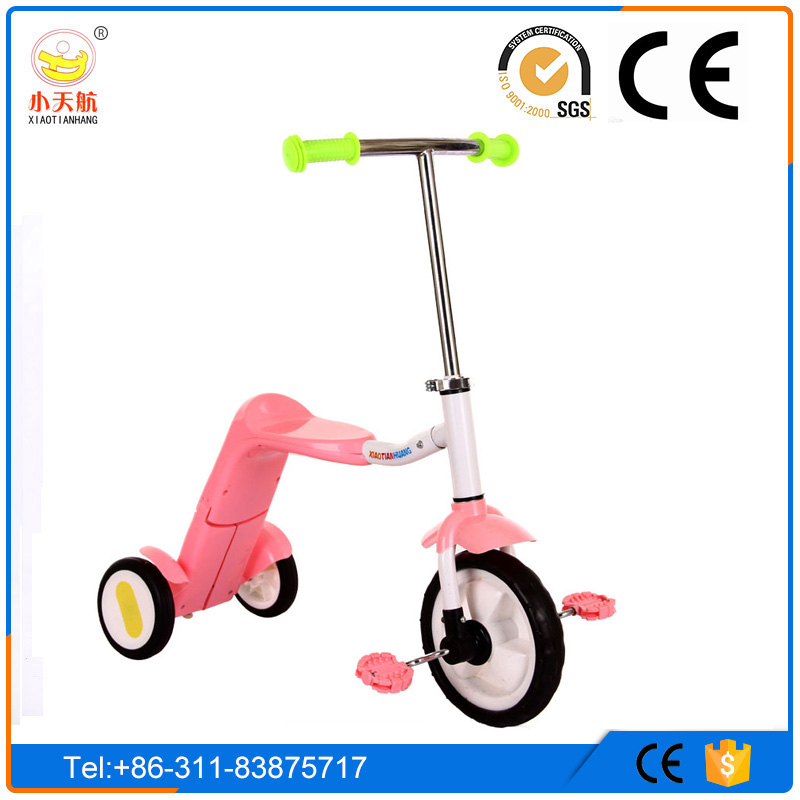 Children Tricycle for Christmas Gift , Mul-tifuntional 3 in 1 Baby Tricyle 2016 Kids