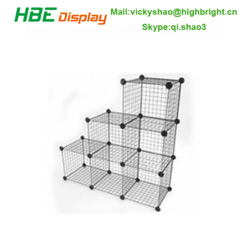 Collapsible Grid Wire Mesh Storage Cube
