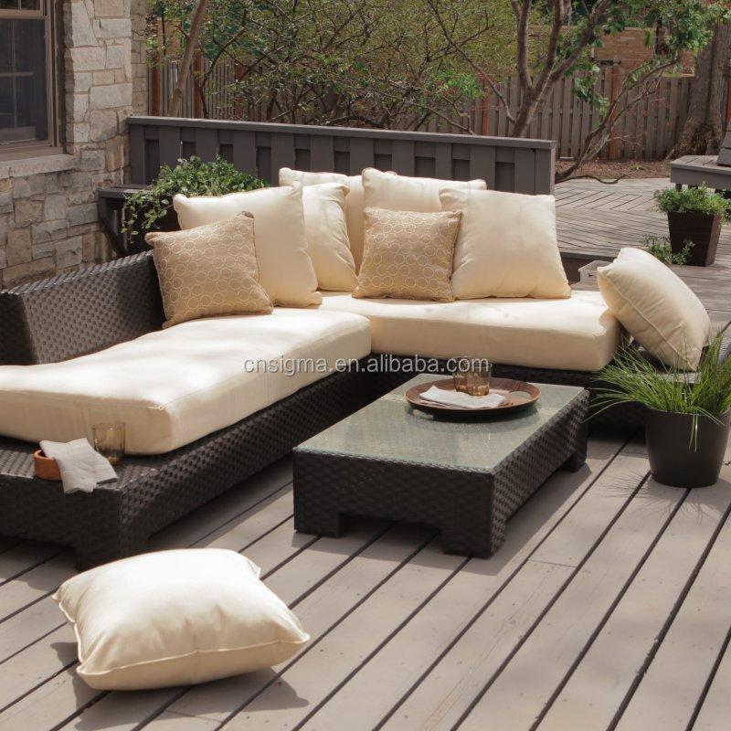 Outdoor Patio Furniture Dimensions: 2017 Trade Assurance Mais Populares Em Forma De L Sofá De