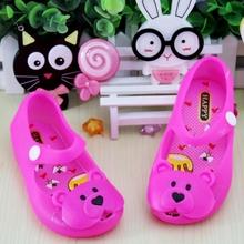 Bear Decoration Baby Children Mini Melissa Shoes Kids Summer Children Sandals For Girls Boys Sapato Infantil