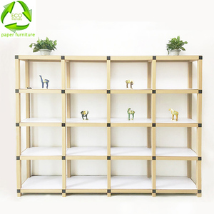 NEW design RECYCLED paper storage rack and suemarket shelf