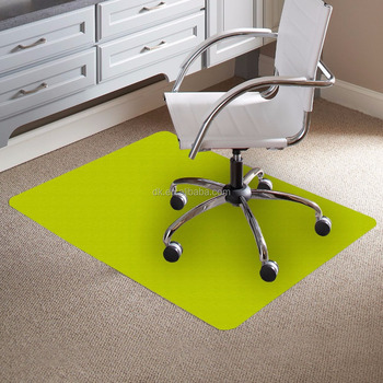 Office Chair Plastic Floor Mat Green
