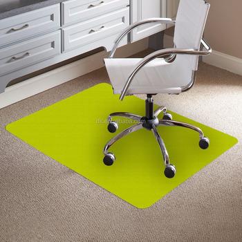 Office Chair Plastic Floor Mat Green Colored Mats