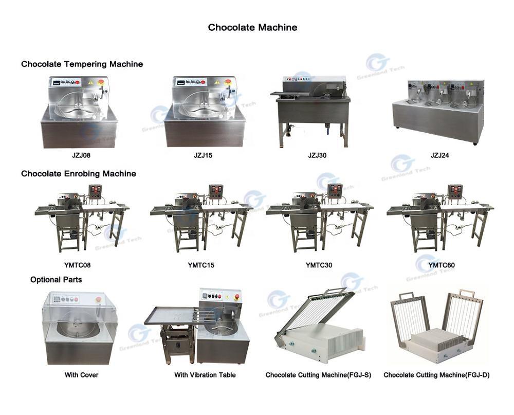 Professionale YMTC15 Snack Al Cioccolato Rinvenimento Enrobing Macchina 2 M/Min