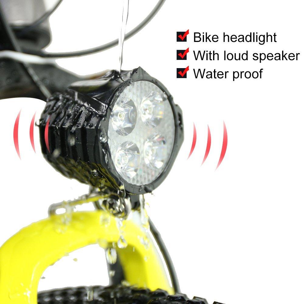 Greenergia Ebike Light Cycling Bicycle 12W Headlight Waterproof Sport Light electric bicycle light 48V Headlight LED electric bike Light Lamp Spotlight Headlamp