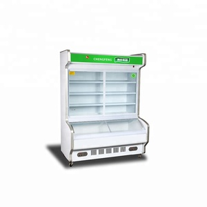 Commercial vegetable cooler open display fruit supermarket refrigerator