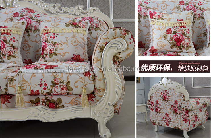 French Alibaba Fl Print Leisure Fabric Sofa Product On