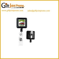 Retractable Plastic Cubic ID Card Badge Reel Holder