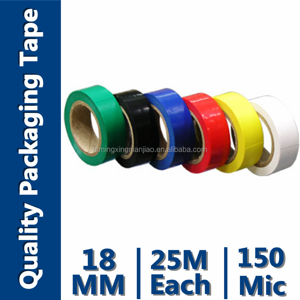 Embossed Logo Colorful PVC Electrical Tape (Soft polyvinyl Choride(SPVC) And Rubber Adhesive)