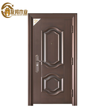 China Manufacturer Modern Home Decoration Steel Wood Entry Doors