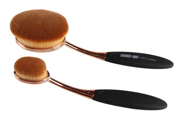 The Fashionable Oval Cosmetic Makeup Brush Number One,Two And Three