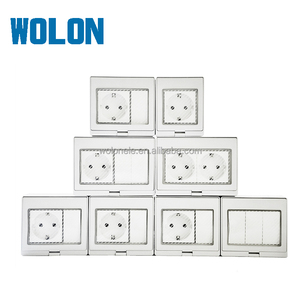 German Type 250V Waterproof wall 2 Gang Switch 1 Gang Socket IP55