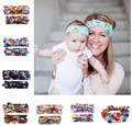 2pcs set Europe US Parent Child Headband Mother Baby Hair band Women Kids Bow Hairband 2016