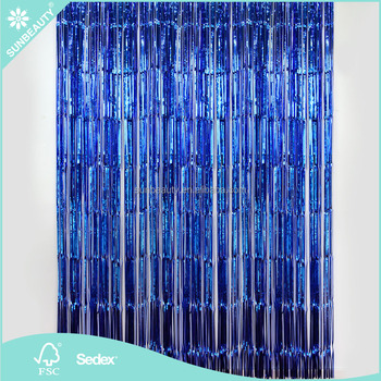 3ft X 8ft Metallic Fringe Foil Curtain Party Tinsel Backdrop For Photo Shooting Room Wedding Decoration
