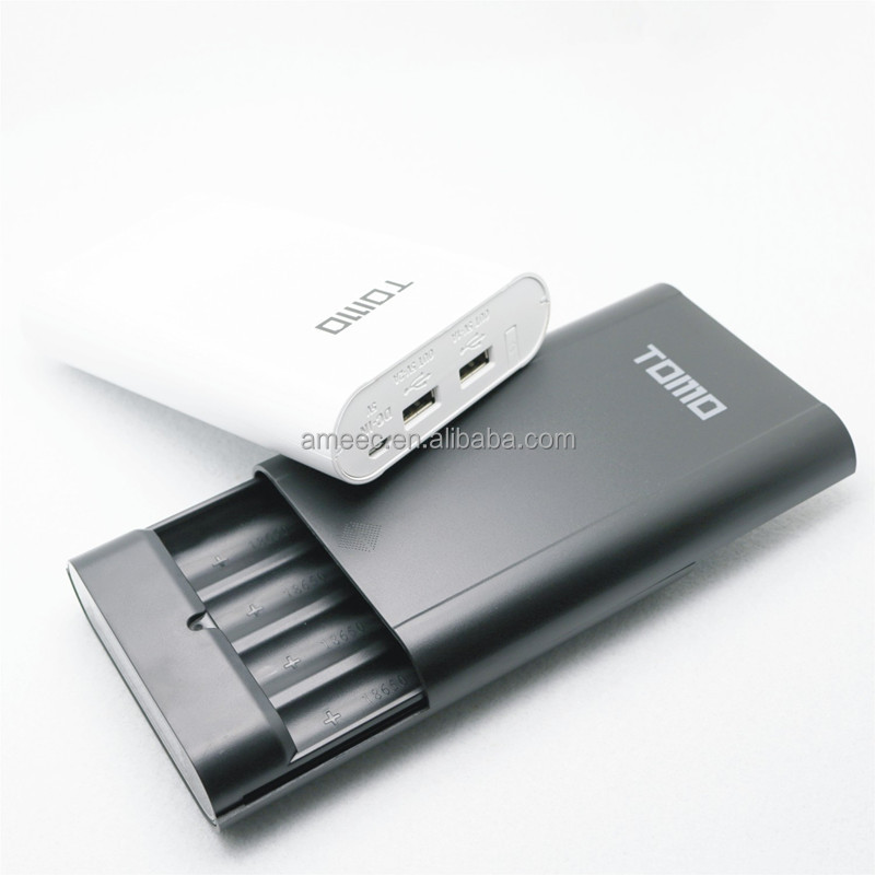 Promotional 4 Rows Power Bank Charger Tomo V8-4 Power Bank Case, 18650 Battery powerbank DIY Case
