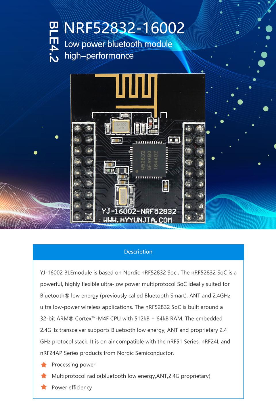 Nordic nRF52832 bluetooth low energy ibeacon module nRF52832 QFAA 2 4Ghz,  View nRF52832, Holyiot Product Details from Shenzhen Hongyi Yunjia