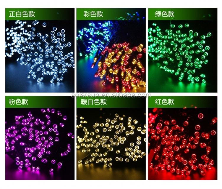 Multicolor LED Solar String Lights