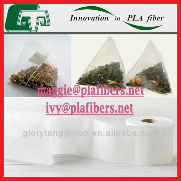 tea bag filter paper made of thermo-dot-bonding nonwoven, biodegradable tea bag filter paper