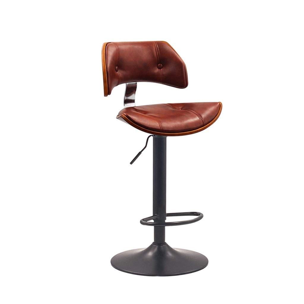 COZY HONE AAA Bar stool, chair 360 degree rotating office chair kitchen restaurant bar stool high stool (Color : D)