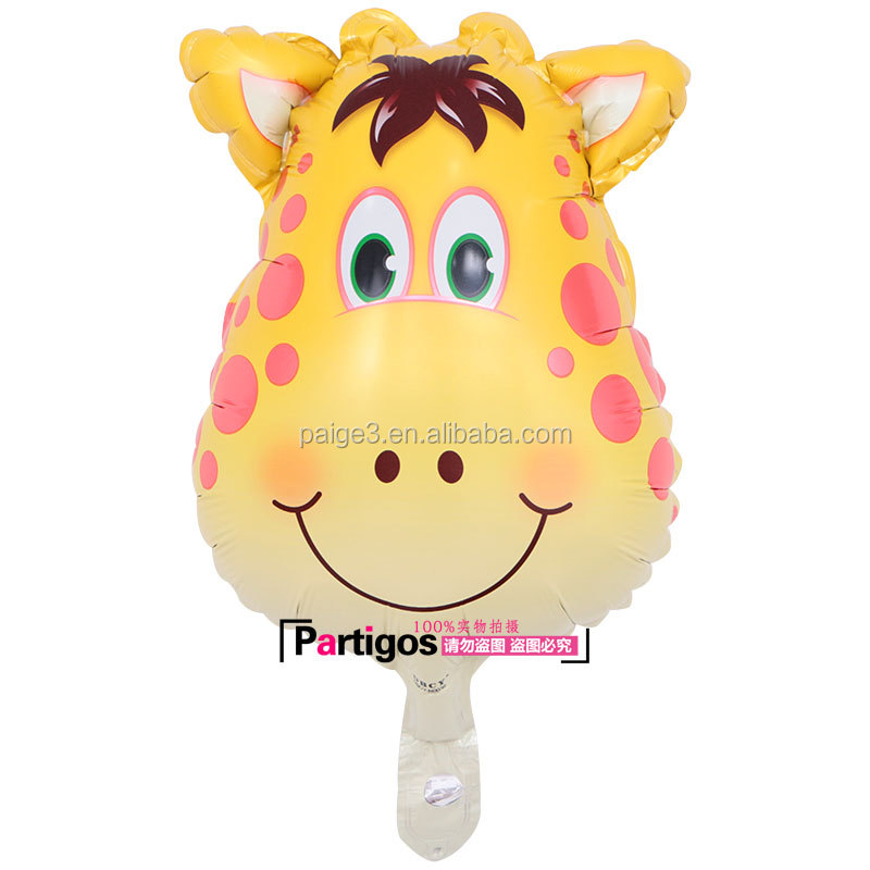 hot sale mylar balloon for kids, inflatable small yellow Giraffe helium foil balloon