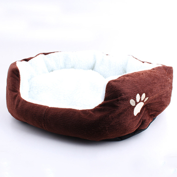 Hot sale pet supplies wholesale small warm soft lambskin dog kennel bed