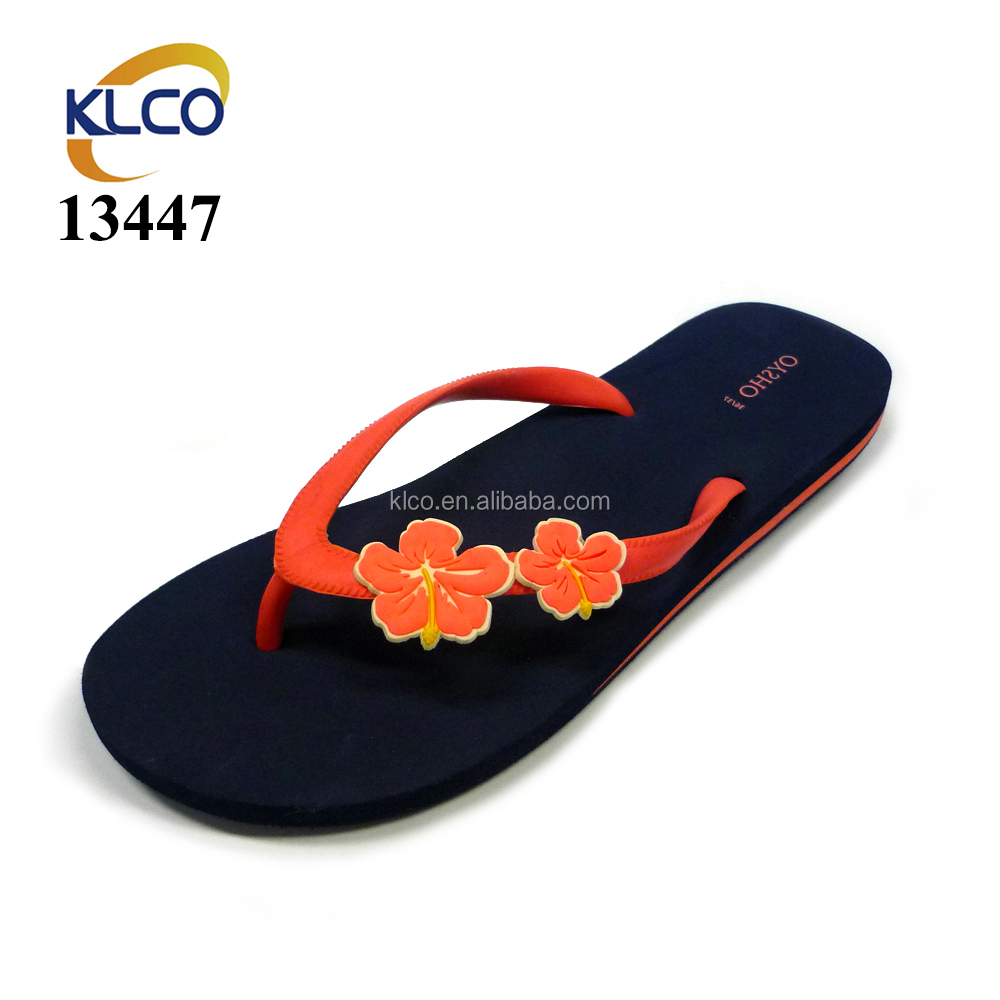 2e18b9a58e94f Fashion Sandals custom printed flip flops with flowers on strap for women