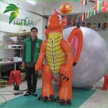 Newest Durable Attractive Inflatable Customized Animal Dragon Suit / Most Popular Fancy Designer Body Inflation Cartoon Suits