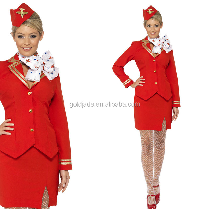 Air Flight Attendant uniforms Airline Stewardess outfit skirt suits OEM ODM Services Offered