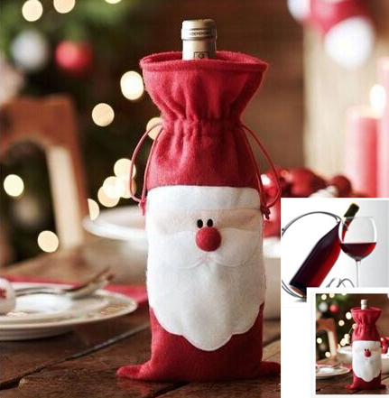 Santa Claus Christmas Gift Bag Bottle Bag Necessary Funds For Christmas Decorations Ornament