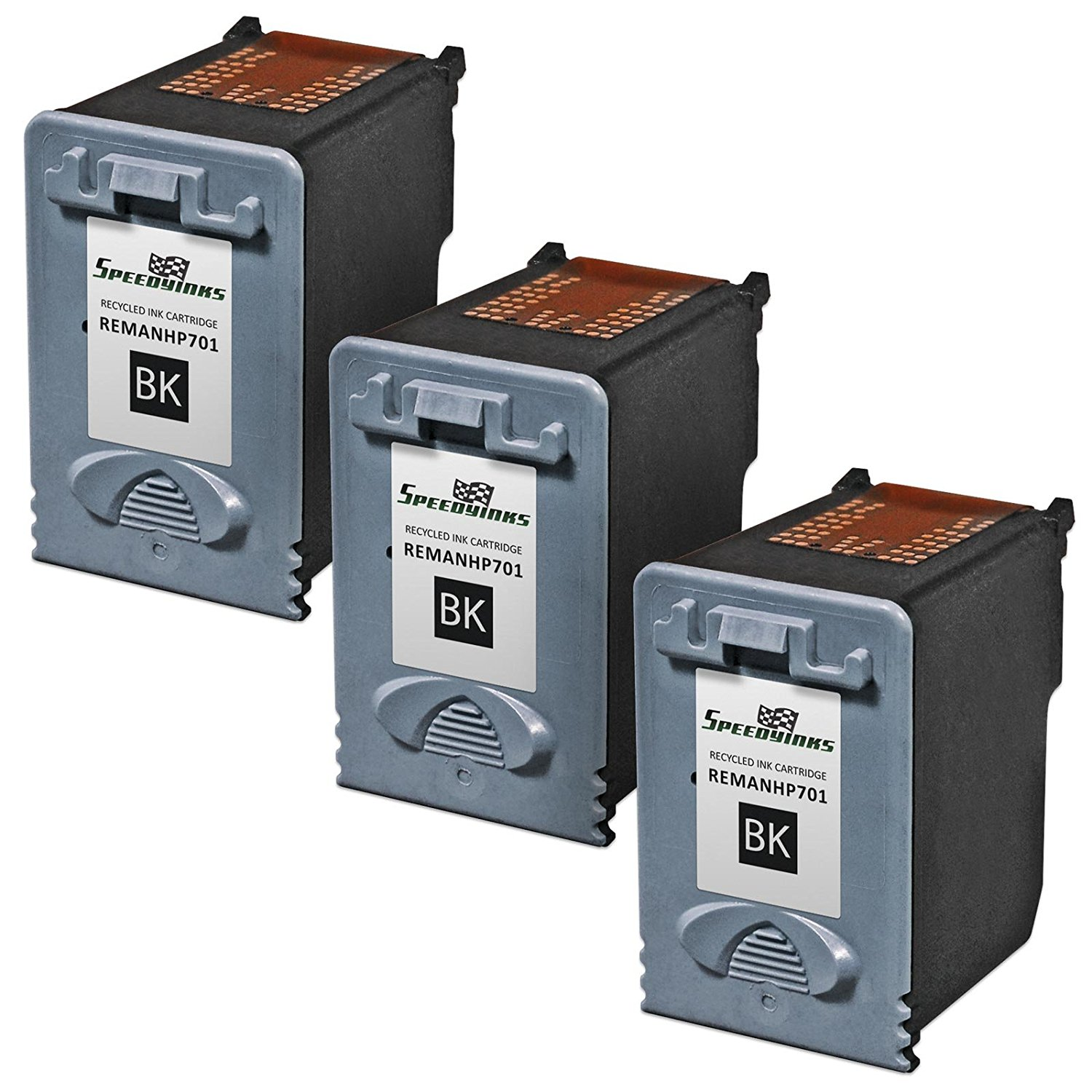 Get Quotations · Speedy Inks - 3pk Remanufactured Replacement for HP CC635A  701 Black Ink Cartridge for use in
