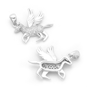 Latest design silver pegasus flying horse animal pendant necklace latest design silver pegasus flying horse animal pendant necklace aloadofball Image collections