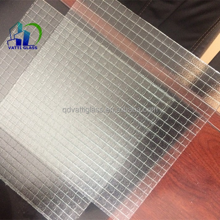 Clear Wired Glass Safety Wire Glass Wire Reinforced Glass - Buy ...