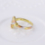 11398 xuping 2016 hot sell gold handshake multicolor plating ring ladies simple gold finger ring